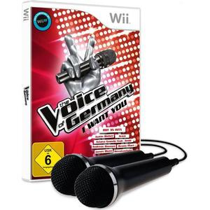 Bigben The Voice of Germany, I want you, 1 Nintendo-Wii-Spiel + 2 Mikrofone