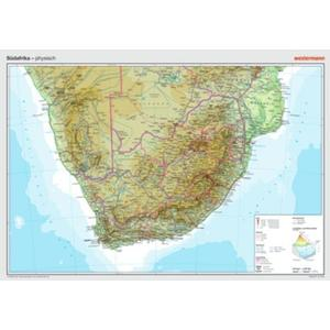 Westermann Lernspielverlag Posterkarten Geographie: Südafrika: physisch
