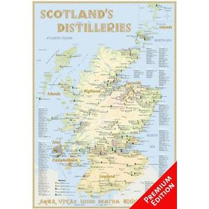 Alba-collection Whisky Distilleries Scotland – Poster 70 x 100 cm – Premium Edition