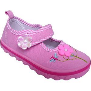 American Club Baby Mädchen Ballerina Hausschuhe Rosa Rosa Pink