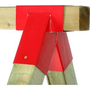1 St. Schaukelverbinder rot Vierkantholz 9x9 cm Schaukel selber bauen