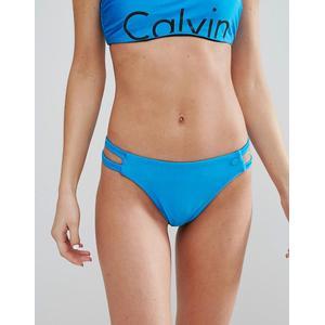 Calvin Klein - Bikinihose mit Cutouts - Blau