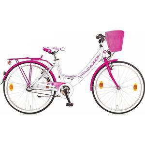 BACHTENKIRCH-INTERBIKE Baxx – 24 Citybike Kira BFF, weiß/rosa