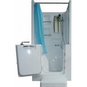 AcquaVapore Senioren Dusche Whirlpool Seniorenbadewanne Sitzwanne mit Tür Pool A102D-WP