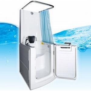 AcquaVapore Senioren Dusche Sitzbadewanne Sitzwanne Duschbadewanne mit Tür Pool A110D