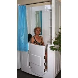 AcquaVapore Senioren Dusche Sitzbadewanne Sitzwanne Duschbadewanne mit Tür Pool A108D
