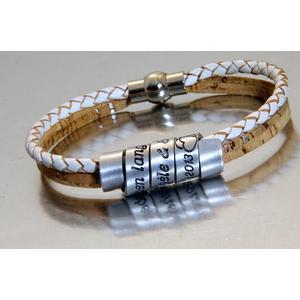 -CIRCLESOFLOVE- Maßanfertigung Korkarmband, Armband mit Gravur