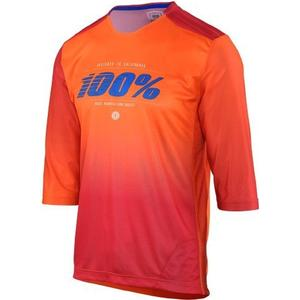100% Airmatic Blaze 3/4 Jersey 3/4-Armtrikot - Orange - S