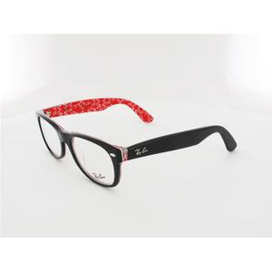 Ray Ban New Wayfarer RX5184 2479 52 top black on texture red