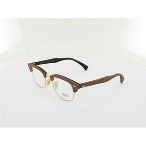 Ray Ban Clubmaster Wood RX5154M 5560 51 walnut rubber black