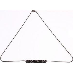 :BRAÏ Jewellery Kurze Kette mit Brailleschrift-Anhänger