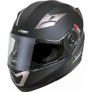 W-TEC Motorcykelhjälm YM-925, matte black, small (55-56) MC