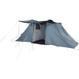 10T Camping-Zelt Warwick 6 Vis-A-Vis Tunnelzelt mit Schlafkabinen für 6 Personen Outdoor Familienzelt mit Wohnraum, Sonnendach Aufstellstangen, wasserdicht mit 5000mm Wassersäule