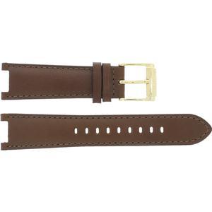 Leder Michael Kors Uhrenarmband MK2249 Leder Braun 20mm + braunen nähte