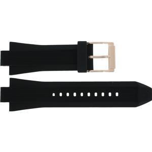 Kautschuk Michael Kors Uhrenarmband MK8184 Kunststoff Schwarz 13mm