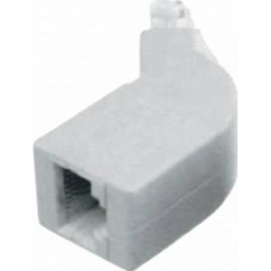 1164058 ISDN-Endwiderstand Adapter, gewinkelt 2 x 100 Ω Natur Inhalt: 1 St.