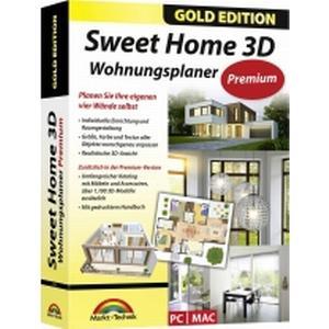 2754 Markt & Technik SweetHome 3D Premium Edition Vollversion, 1 Lizenz Windows, Mac Planungs-Software