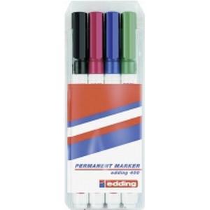 04BLK400-4999 Edding Permanent Marker-Set 400, 4-teilig