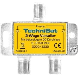 0000/3220 2-Wege Sat-Verteiler (Silber)