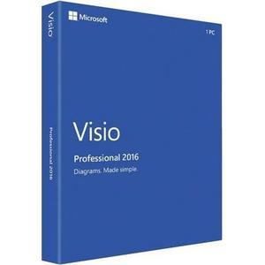 1 PC Ms Visio 2016 Professional • DE & Multilingual • Online Aktivierung