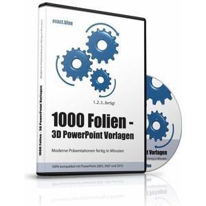 1000 Folien, 3D PowerPoint Vorlagen, Farbe exact.blue (2017), 1 Cd-Rom
