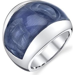 Blue Pearls 925-Sterlingsilber mit jeansblauem Katzenaugen-Quarz