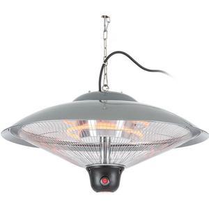 DURAMAXX Heizsporn Deckenheizstrahler 60,5 cm () LED-Lampe Fernbedienung