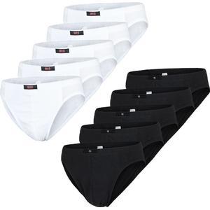 10er Pack HIS Herren Slips, Unterhosen, schwarz oder weiß, Neu, H.i.s