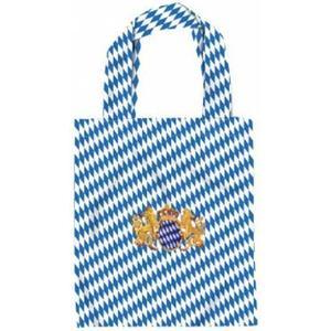 (12354) Baumwolltasche für Kinder mit Stickmotiv ´´BAYERN WAPPEN LÖWE´´ NEU - Tasche Kindergartentasch