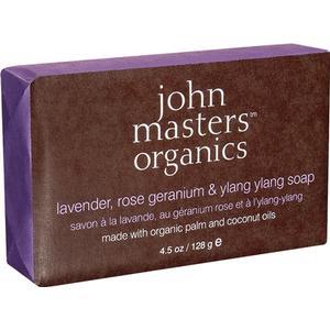 John Masters Organics Lavender Rose Geranium & Ylang Ylang Soap 128g