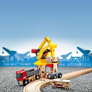 BRIO Holzeisenbahn-Zubehör ´´Frachtverladestation´´ Modell: 33280, 6-teilig (ab 3 Jahren)