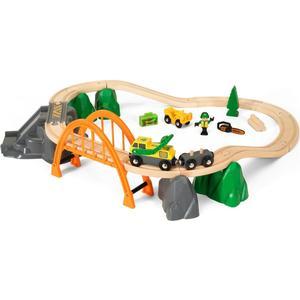 BRIO Holzeisenbahn ´´Waldarbeiter - Set´´ Modell: 33789, 24-teilig (ab 3 Jahren)