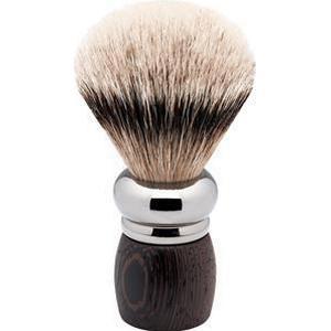 ERBE Shaving Shop Rasierpinsel Rhodium-Rasierpinsel Wengeholz, Silberspitz 1 Stk.