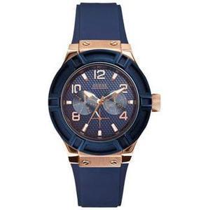 Kunststoff Guess W0571L1 Analog Frau Quartz Uhr