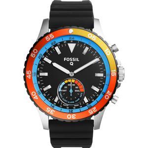 Kunststoff Armbanduhr Fossil Q Crewmaster Hybrid FTW1124 Analog Quartz Uhr Männer
