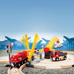 BRIO Holzeisenbahn ´´Kran Set´´ Modell: 33208, 26-teilig (ab 3 Jahren)