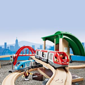 BRIO Holzeisenbahn ´´Großes Bahn Reisezug Set´´ Modell: 33512, 42-teilig (ab 3 Jahren)