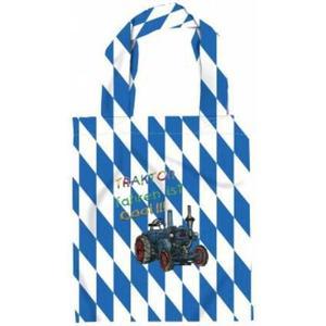 (12352) Baumwolltasche für Kinder mit Stickmotiv ´´TRAKTOR fahren ist cool´´ NEU - Kindergartentasche