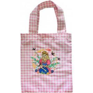 (12353) Baumwolltasche für Kinder mit Stickmotiv ´´PRINZESSIN´´ Neu - Tasche Kindergartentasche