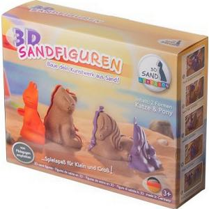 3D Tier-Sandformen im 2er-Set