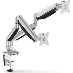 InLine Tischhalterung mit Lifter und USB 3.0, beweglich, fr zwei Monitore bis 81cm (32), max. 9kg