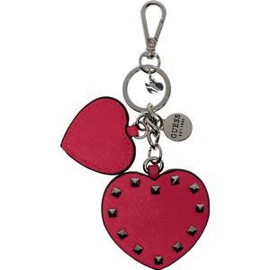 GUESS Britta Double Heart Keychain