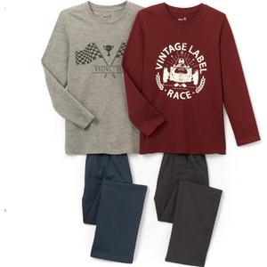 2er-Pack bedruckte Pyjamas, 2-12 Jahre