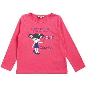 .. jbc Langarmshirt, Print, Baumwollmix, für Mädchen