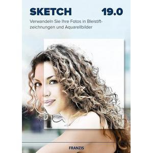 Franzis Buch & Software Verlag Sketch 19.0 - Verwandeln Sie Ihre Fotos in Bleistiftzeichnungen und Aquarellbilder, Bildbearbeitungssoftware