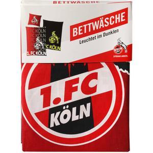 1. FC Köln 1. FC Köln Leucht-Bettwäsche, Baumwolle, Print