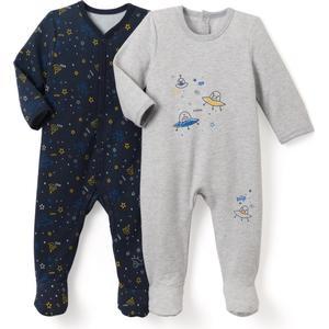 2er-Pack Pyjamas aus Sweatware, bedruckt, 0 Monate - 3 Jahre