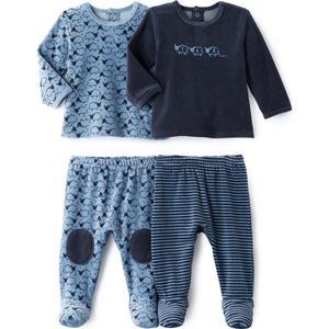 2er-Pack 2-teilige Pyjamas aus Samt, 0 Monate - 3 Jahre