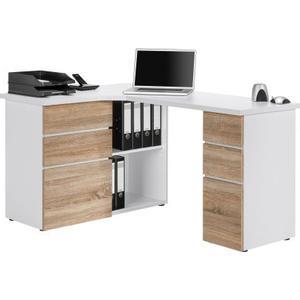 Maja Schreib- und Computertisch Icy-wei und Sonoma-Eiche