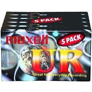 Maxell UR-90 kassettband, 90min, 5-pack